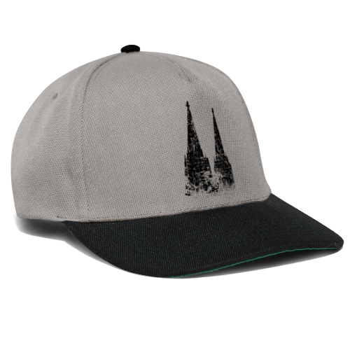 Kölner Dom (Vintage Schwarz) Köln Design - Snapback Cap