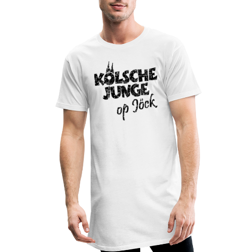 Kölsche Junge Op Jöck (Vintage Schwarz) Kölner Jungs Unterwegs - Männer Urban Longshirt