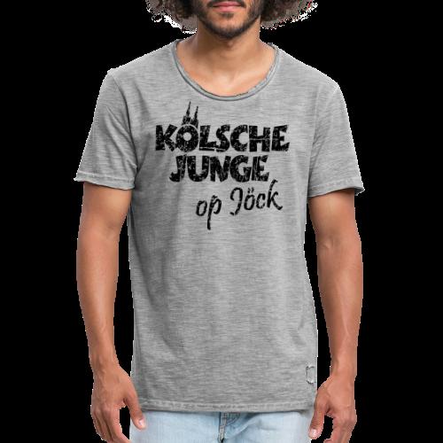 Kölsche Junge Op Jöck (Vintage Schwarz) Kölner Jungs Unterwegs - Männer Vintage T-Shirt
