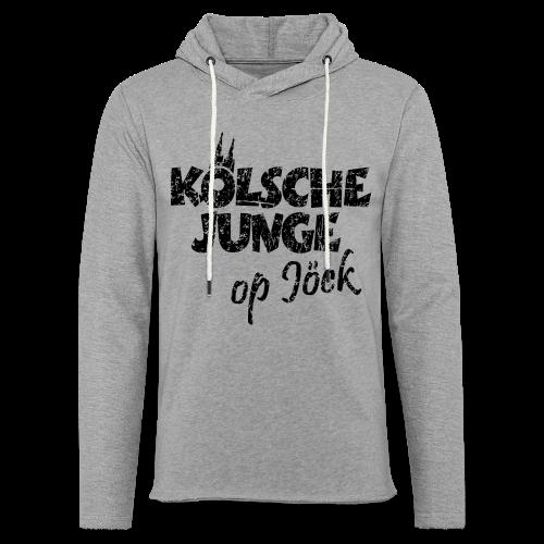Kölsche Junge Op Jöck (Vintage Schwarz) Kölner Jungs Unterwegs - Leichtes Kapuzensweatshirt Unisex