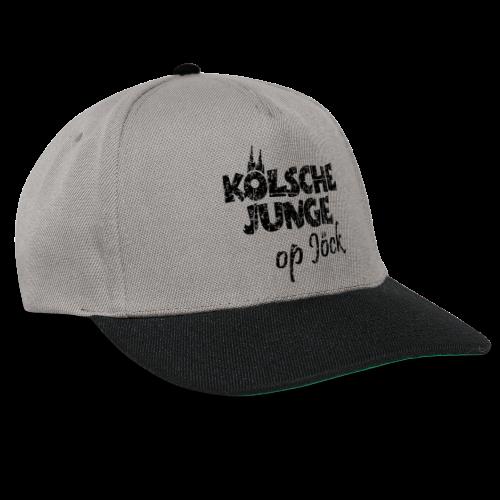 Kölsche Junge Op Jöck (Vintage Schwarz) Kölner Jungs Unterwegs - Snapback Cap