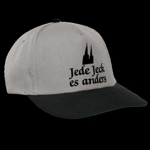 Jede Jeck es anders (Klassik/Center) Kölner Spruch - Kölsche Sprüche - Snapback Cap