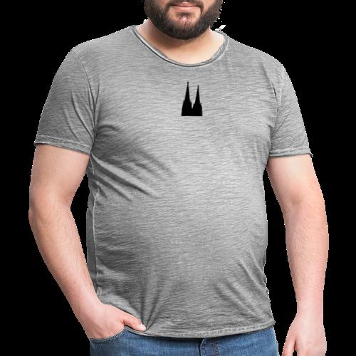 Kölner Dom (Schwarz/Center) Köln Design - Männer Vintage T-Shirt