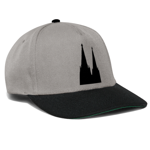 Kölner Dom (Schwarz/Center) Köln Design - Snapback Cap