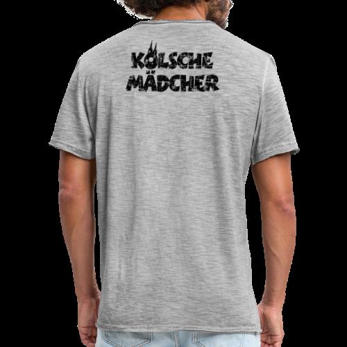 Kölsche Mädcher (Vintage Schwarz) Kölner Mädchen aus Köln - Männer Vintage T-Shirt
