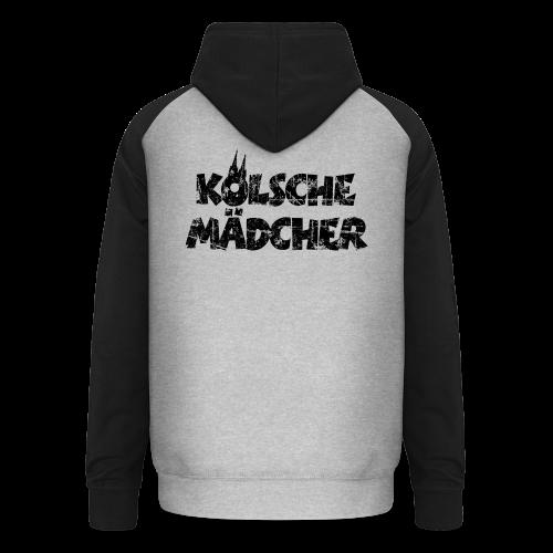 Kölsche Mädcher (Vintage Schwarz) Kölner Mädchen aus Köln - Unisex Baseball Hoodie