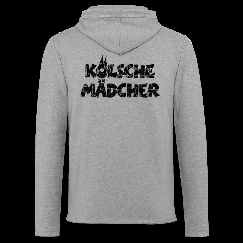 Kölsche Mädcher (Vintage Schwarz) Kölner Mädchen aus Köln - Leichtes Kapuzensweatshirt Unisex