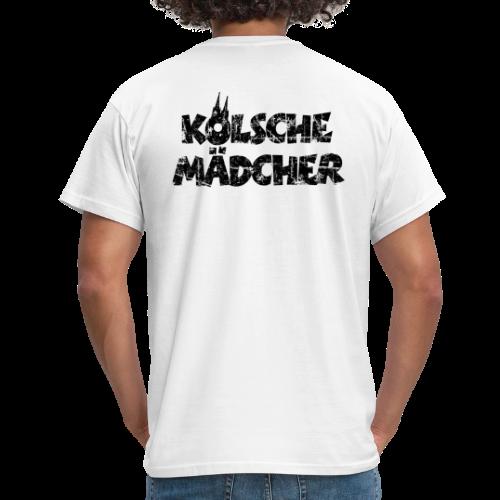 Kölsche Mädcher (Vintage Schwarz) Kölner Mädchen aus Köln - Männer T-Shirt