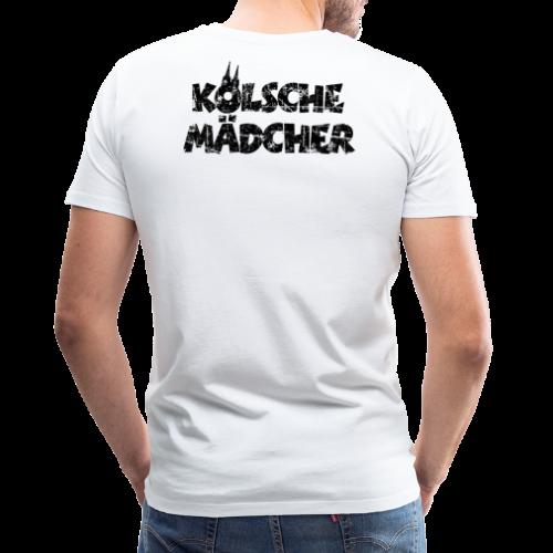 Kölsche Mädcher (Vintage Schwarz) Kölner Mädchen aus Köln - Männer Premium T-Shirt