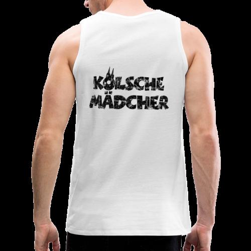 Kölsche Mädcher (Vintage Schwarz) Kölner Mädchen aus Köln - Männer Premium Tank Top