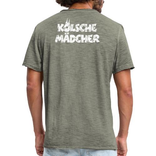 Kölsche Mädcher (Vintage Weiß) Kölner Mädchen aus Köln - Männer Vintage T-Shirt