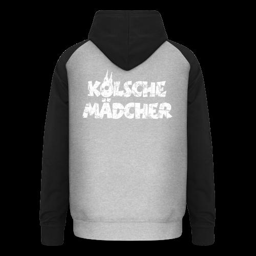 Kölsche Mädcher (Vintage Weiß) Kölner Mädchen aus Köln - Unisex Baseball Hoodie