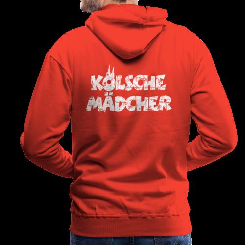 Kölsche Mädcher (Vintage Weiß) Kölner Mädchen aus Köln - Männer Premium Hoodie