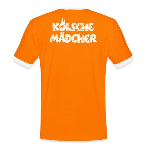 Kölsche Mädcher (Vintage Weiß) Kölner Mädchen aus Köln - Männer Kontrast-T-Shirt