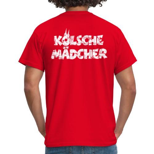 Kölsche Mädcher (Vintage Weiß) Kölner Mädchen aus Köln - Männer T-Shirt