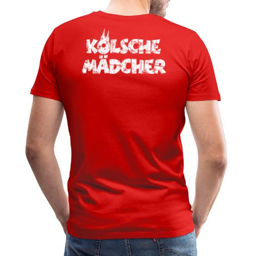 Kölsche Mädcher (Vintage Weiß) Kölner Mädchen aus Köln - Männer Premium T-Shirt