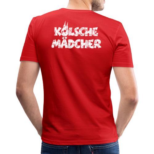 Kölsche Mädcher (Vintage Weiß) Kölner Mädchen aus Köln - Männer Slim Fit T-Shirt