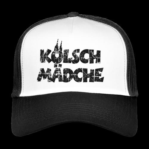 Kölsch Mädche (Vintage Schwarz) Mädchen und Frauen aus Köln - Trucker Cap