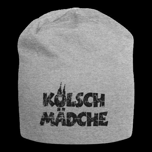 Kölsch Mädche (Vintage Schwarz) Mädchen und Frauen aus Köln - Jersey-Beanie