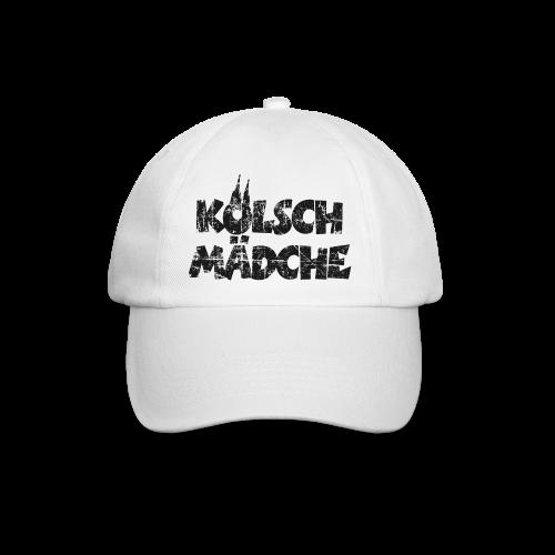 Kölsch Mädche (Vintage Schwarz) Mädchen und Frauen aus Köln - Baseballkappe