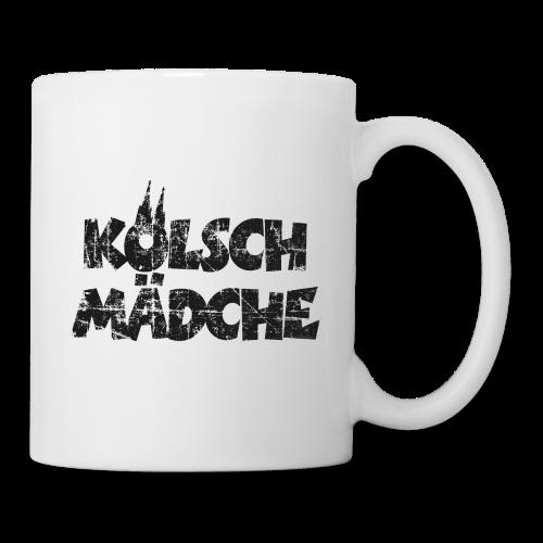 Kölsch Mädche (Vintage Schwarz) Mädchen und Frauen aus Köln - Tasse