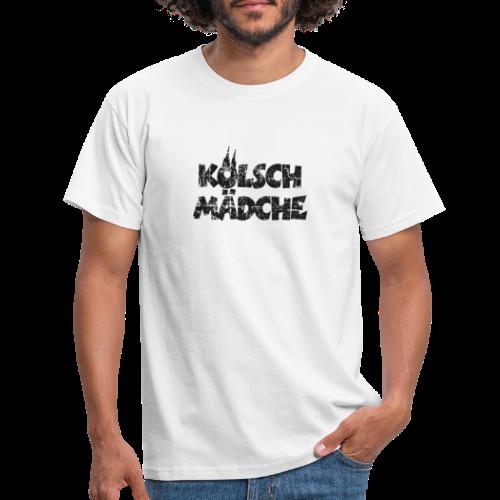 Kölsch Mädche (Vintage Schwarz) Mädchen und Frauen aus Köln - Männer T-Shirt