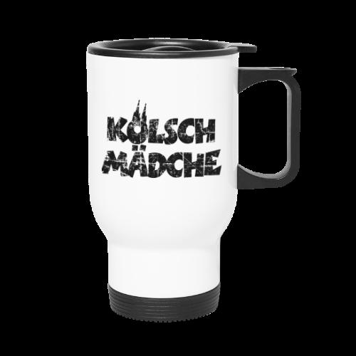 Kölsch Mädche (Vintage Schwarz) Mädchen und Frauen aus Köln - Thermobecher