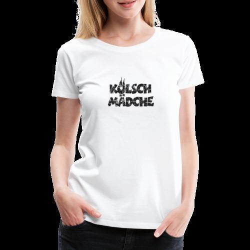 Kölsch Mädche (Vintage Schwarz) Mädchen und Frauen aus Köln - Frauen Premium T-Shirt