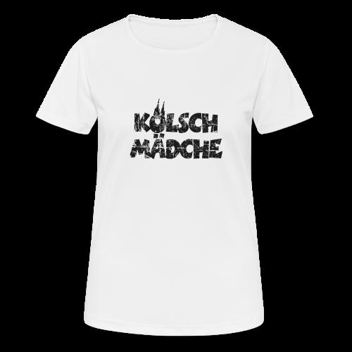 Kölsch Mädche (Vintage Schwarz) Mädchen und Frauen aus Köln - Frauen T-Shirt atmungsaktiv