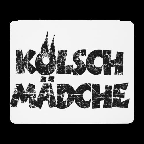 Kölsch Mädche (Vintage Schwarz) Mädchen und Frauen aus Köln - Mousepad (Querformat)