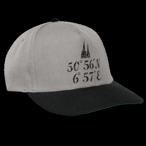 Kölner Dom Koordinaten (Vintage Schwarz) Köln - Snapback Cap