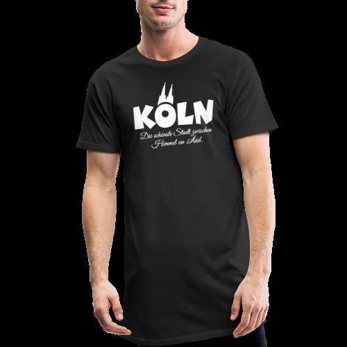 Köln, die schönste Stadt zwischen Himmel un Ääd (Weiß) - Männer Urban Longshirt