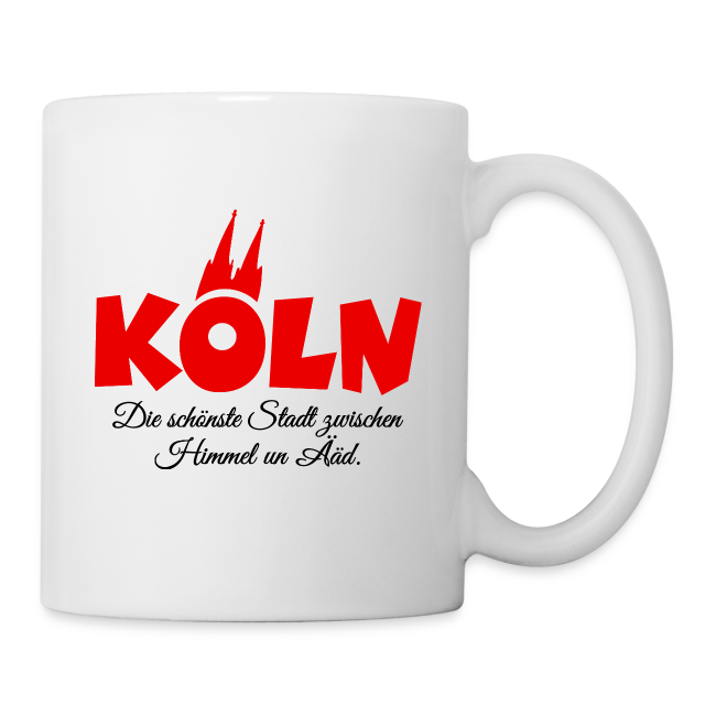 Köln, die schönste Stadt zwischen Himmel un Ääd (Rot/Schwarz)