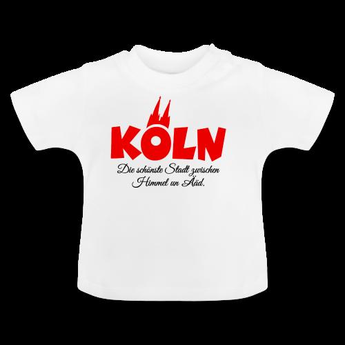 Köln, die schönste Stadt zwischen Himmel un Ääd (Rot/Schwarz) - Baby T-Shirt
