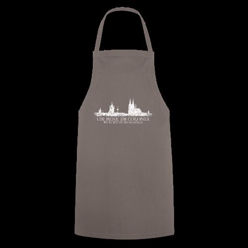 UBI BENE DO ES KÖLLE Skline (Vintage Weiß) Köln Römisch - Kochschürze
