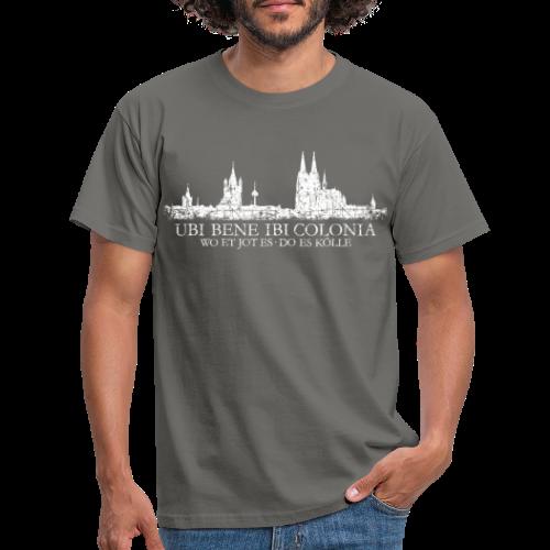 UBI BENE DO ES KÖLLE Skline (Vintage Weiß) Köln Römisch - Männer T-Shirt