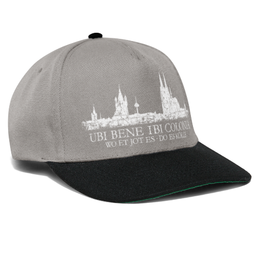 UBI BENE DO ES KÖLLE Skline (Vintage Weiß) Köln Römisch - Snapback Cap
