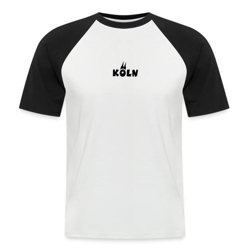 KÖLN (Weiß/Center) mit Kölner Dom - Männer Baseball-T-Shirt