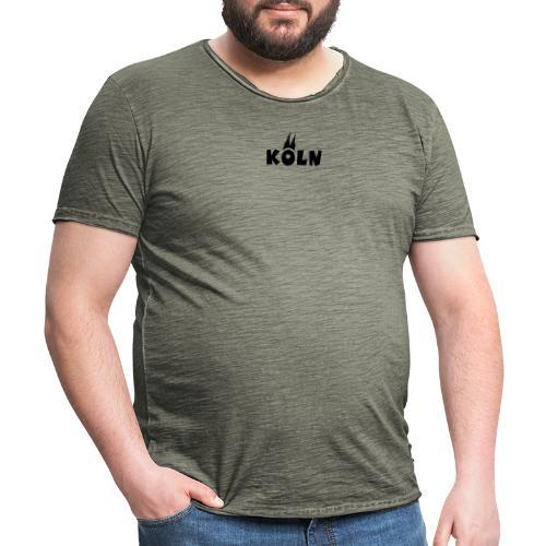 KÖLN (Weiß/Center) mit Kölner Dom - Männer Vintage T-Shirt