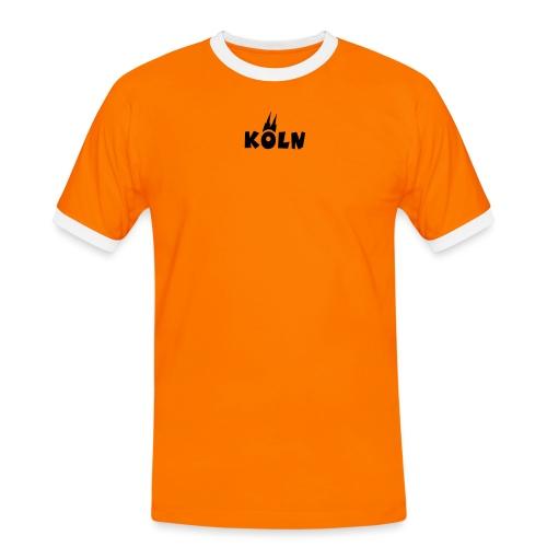 KÖLN (Weiß/Center) mit Kölner Dom - Männer Kontrast-T-Shirt