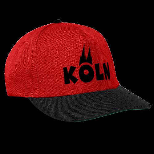 KÖLN (Weiß/Center) mit Kölner Dom - Snapback Cap