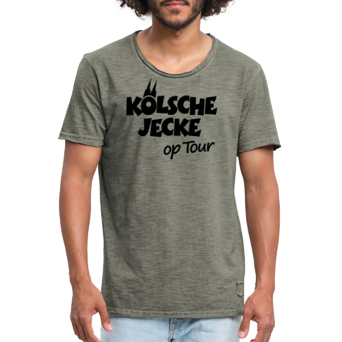 Kölsche Jecke op Tour (Weiß) Kölner Unterwegs - Männer Vintage T-Shirt