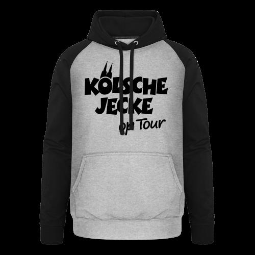 Kölsche Jecke op Tour (Weiß) Kölner Unterwegs - Unisex Baseball Hoodie