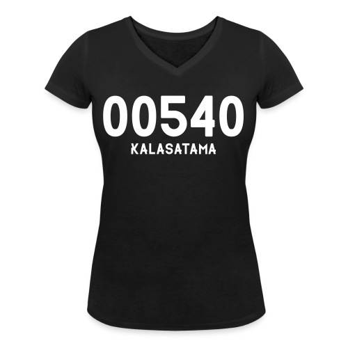 00540 KALASATAMA - Stanley & Stellan naisten v-aukkoinen luomu-T-paita