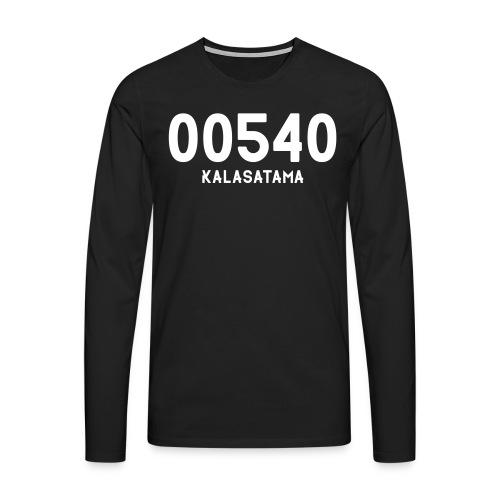 00540 KALASATAMA - Miesten premium pitkähihainen t-paita