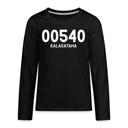 00540 KALASATAMA - Teinien premium pitkähihainen t-paita