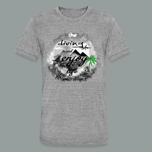 diving and enjoy life - Unisex Tri-Blend T-Shirt von Bella + Canvas