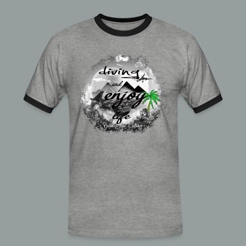 diving and enjoy life - Männer Kontrast-T-Shirt