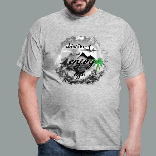 diving and enjoy life - Männer T-Shirt