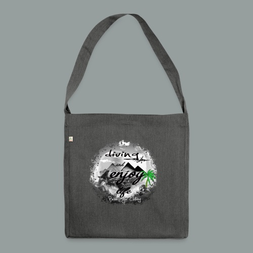 diving and enjoy life - Schultertasche aus Recycling-Material